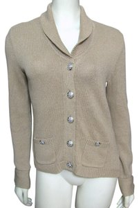 Ralph Lauren Brown Silver Buttoned Cardigan