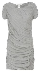 Diane von Furstenberg short dress Gray Dvf Mini Ruched Cap Sleeve on Tradesy