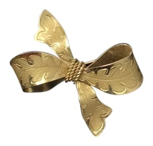 Goldfilled Signed piece Gold Filled signed Vintage Mint Small Bow