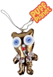 Other Puff Planet Button-Eyed with Keychain and Lanyard Clip-
