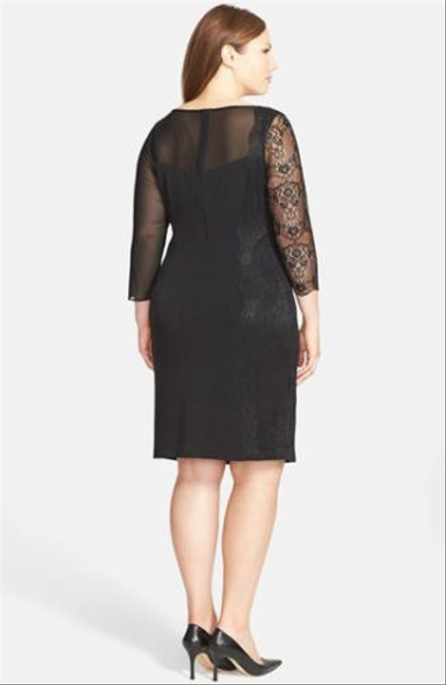 Vince Camuto Ilusion Yoke Cocktail Plus Size Dress 53