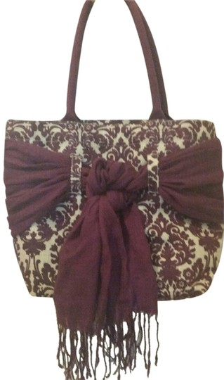 Other Tote in Damask Deep purple