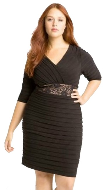 Adrianna Papell Shutter Pleat Formal Plus Size Dress Image 0