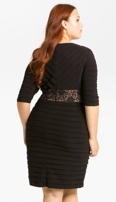 Adrianna Papell Shutter Pleat Formal Plus Size Dress Image 1