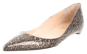 Christian Louboutin Grey Multicolor Grey, Brown Flats