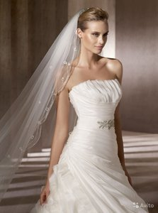 Pronovias Off White Organza Benidorm Destination Dress Size 10 (M)