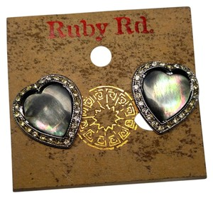 Ruby Rd. Ruby Rd. Abalone Shell Heart Shaped Stud Earrings J1928 Summesale