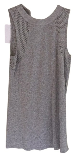 Item - Gray Mesh Mock Turtleneck Cotton Tank Top/Cami Size 4 (S)