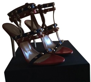 Dsquared2 Drk blue, lipstick red & brown Sandals