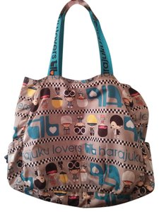 Harajuku Lovers Rare Tote in Grey/Electric Blue