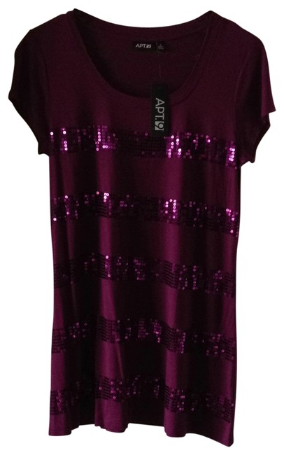 Item - Purple Short Embellished Night Out Dress Size 8 (M)