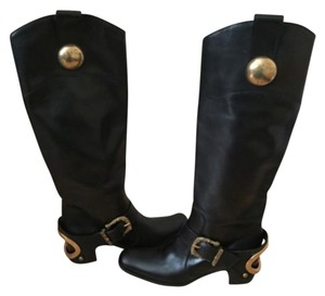 Dolce&Gabbana Riding Leather black Boots