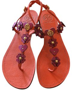 Tory Burch Orange/Plum Sandals