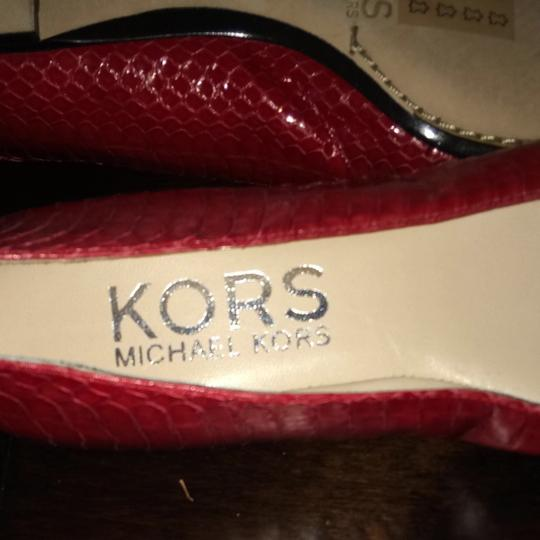 Michael Kors Black And Red Flats