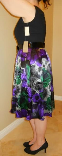 Coldwater Creek Floral Belted Flared Dress