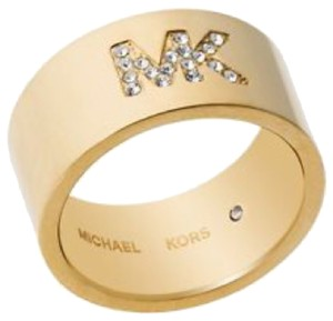 Michael Kors Michael Kors Crystal Logo Band Ring 7