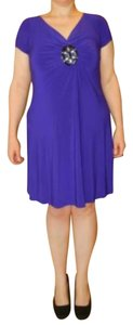 Ronni Nicole short dress Purple Slimming Shapewear With Tags Size 16 on Tradesy