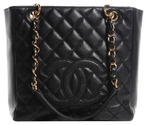 Chanel Petite Shopping Pst Cc Tote in black