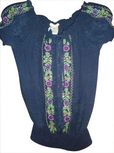 Only Mine Top Navy Blue