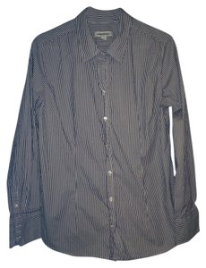 Merona Button Down Shirt Grey/white