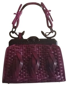 Dior Woven Satchel in Purple ombre