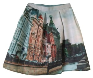 Natali Leskova Mini Above Knee Russian Mini Skirt Multi