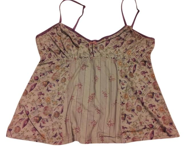 DKNY Floral Top Turquoise and Purple
