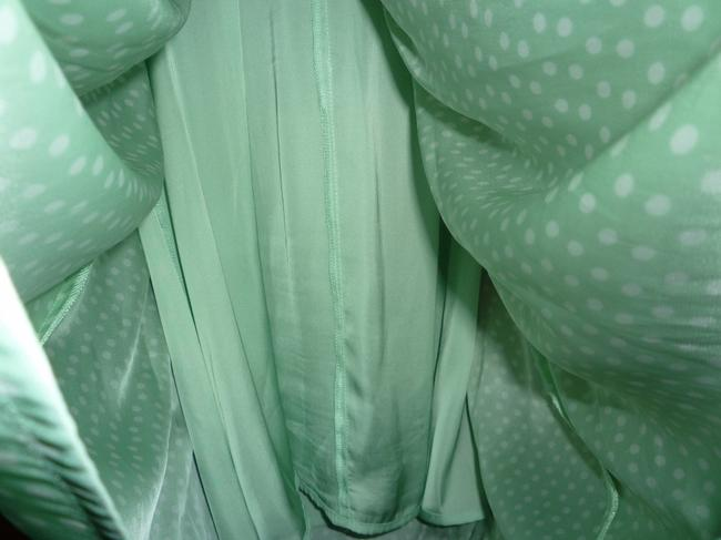 BB Dakota short dress Mint Green Polka Dots on Tradesy