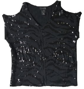 MM Couture Miss Me Buckle Top Black