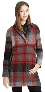 Burberry Wool Plaid Winter Pea Coat