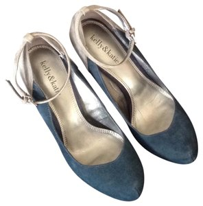 Kelly & Katie Navy Blue and Gray Platforms