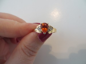 Other 14k Spessartite and Diamond Ring