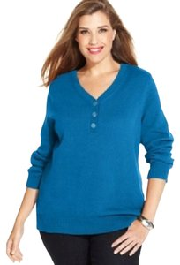 Karen Scott Aqua Lake Sweater