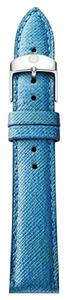 Michele Michele 16mm Green Blue Slate Genuine Leather Strap MS16AA430296