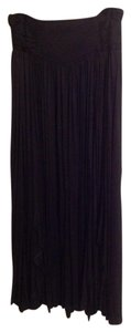 Marfil Pleat Maxi Skirt Black