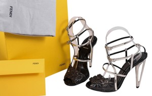 Fendi Black/Silver/Gray Sandals