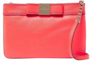 Kate Spade Bow Chain Leather Red Cross Body Bag