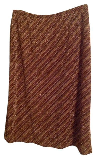 Express Skirt Gold & Brown