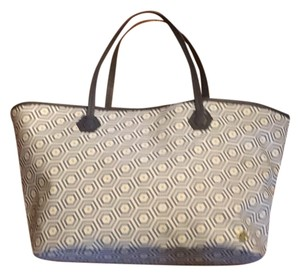 Jonathan Adler Tote in Grey, Yellow & White