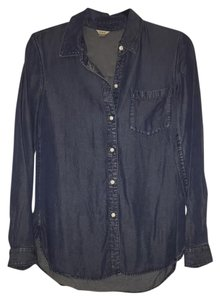 Fossil Button Down Shirt Blue
