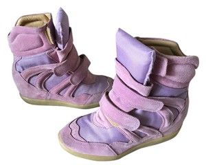 Monica Corte Isabeal Marant Wedge Sneakers Lavender Wedges