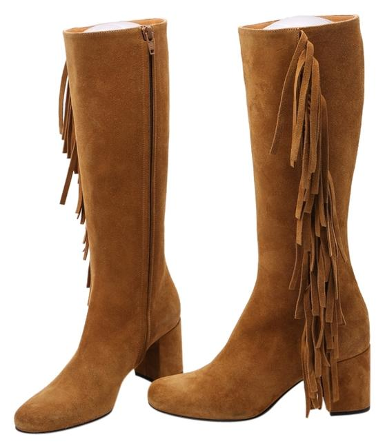 Item - Brown * Fringed Suede 4.5 Boots/Booties Size US 5 Regular (M, B)