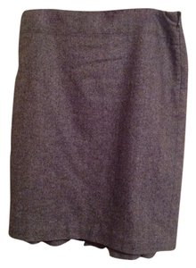 Ann Taylor LOFT Wool Pleated Skirt Black