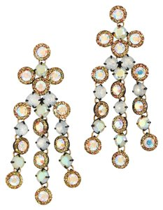 J.Crew Cascade Crystal chandelier earrings