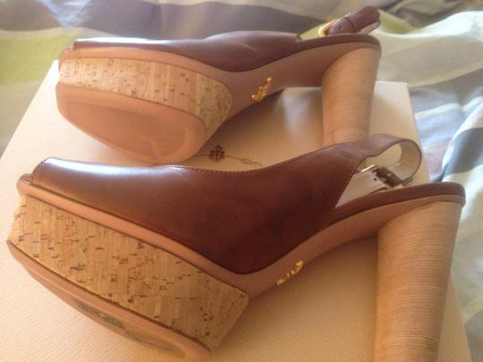 Prada VIT NATURAL CORK BRUCIATO Pumps