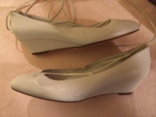 Nickels Leather White Pumps