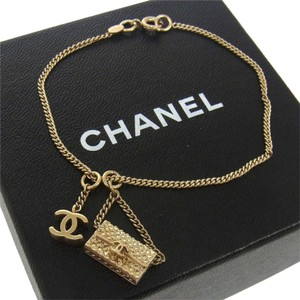 Chanel AUTH CHANEL VINTAGE CC LOGOS GOLD CHAIN BRACELET 05A ITALY ACCESSORIES