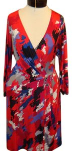 BCBG Max Azria Multicolor V-neck Dress