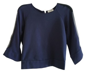 Max and Cleo Navy 3/4-sleeve Top Blue