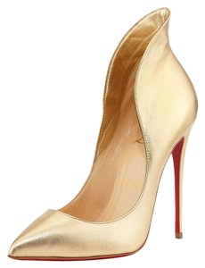 Christian Louboutin Metallic Stiletto Gold Pumps